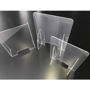 Plexiglas spatscherm helder zonder uitsparing